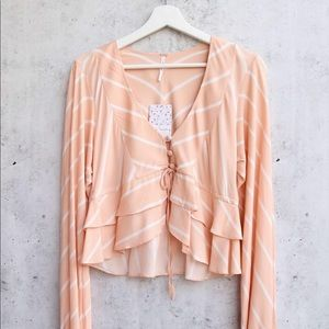 FREE PEOPLE BLOUSE🍑FP TOP in Peach🍑
